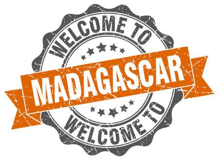 Madagascar round ribbon seal Illustration