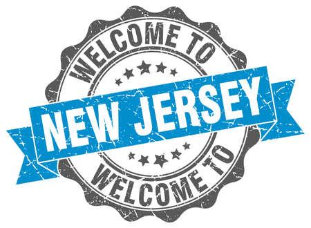 New Jersey round ribbon seal Illustration