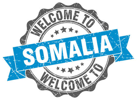 somalia: Somalia round ribbon seal