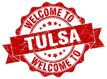 tulsa: Tulsa round ribbon seal Illustration
