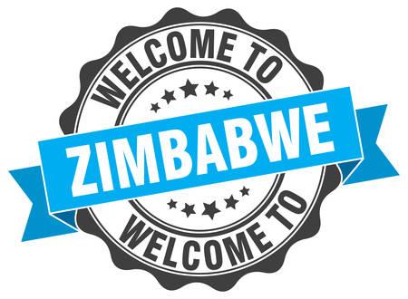 zimbabwe: Zimbabwe round ribbon seal