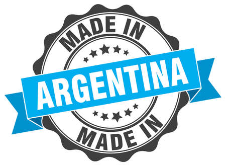 made in Argentina round seal