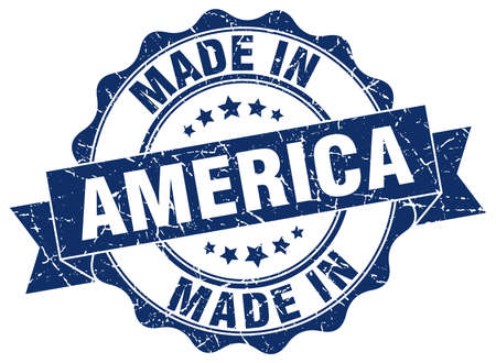 made in America round seal Illustration
