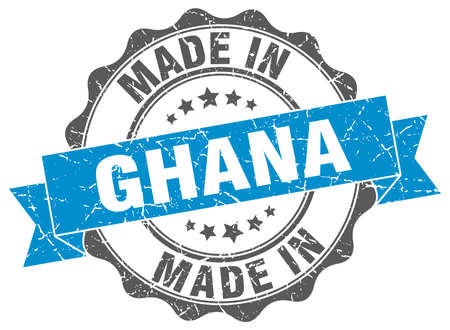 made in Ghana round seal Illustration