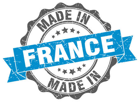 made in France round seal Illustration