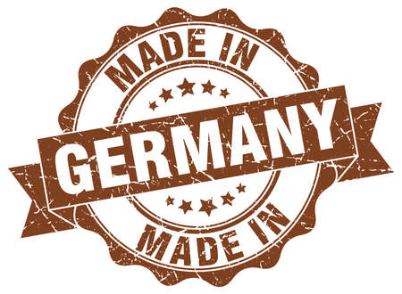 made in Germany round seal Illustration