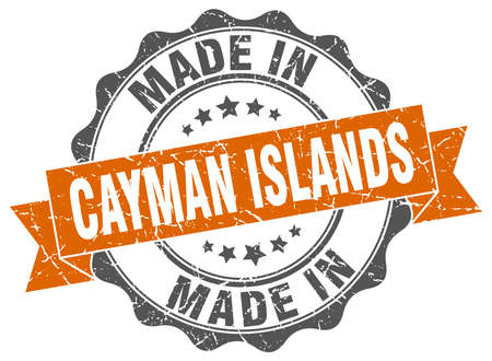 made in Cayman Islands round seal Illustration