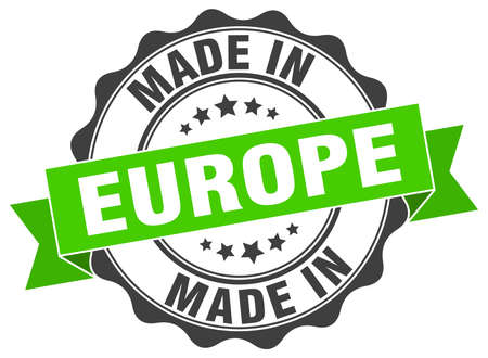 made in europe round seal Illustration