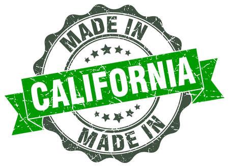 Gemaakt in Californië ronde zegel Stock Illustratie