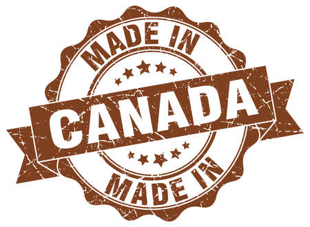 made in Canada round seal