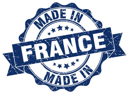 Made in France round seal.