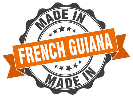 guiana: made in French Guiana round seal Illustration