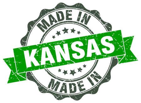 kansas: made in Kansas round seal Illustration