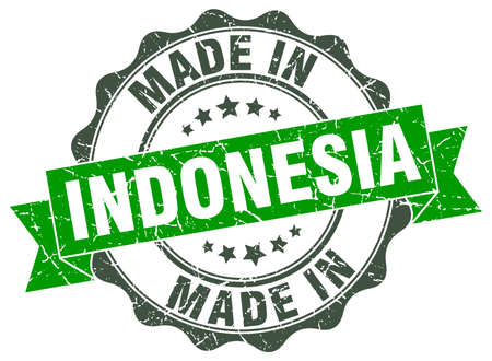 made in Indonesia round seal