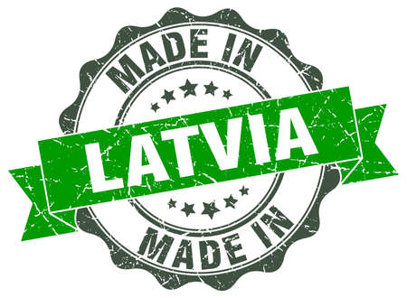 made in Latvia round seal Illustration