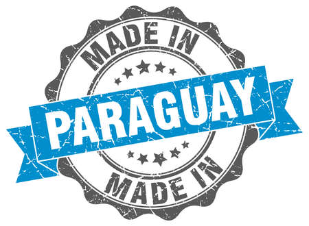 made in Paraguay round seal