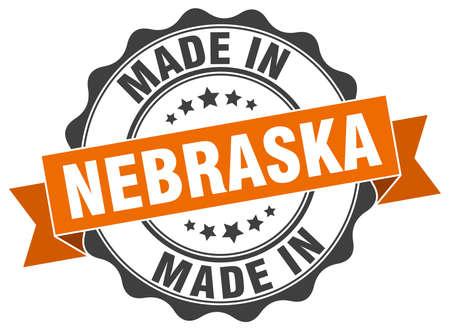 nebraska: made in Nebraska round seal Illustration