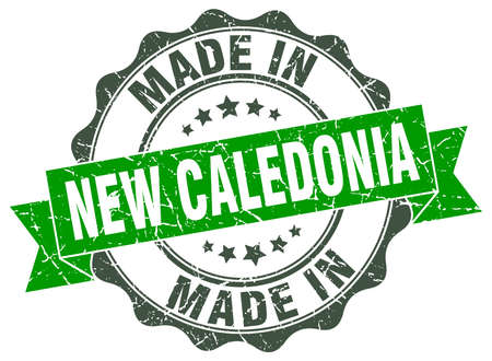 made in New Caledonia round seal
