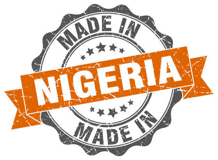 made in Nigeria round seal Illustration