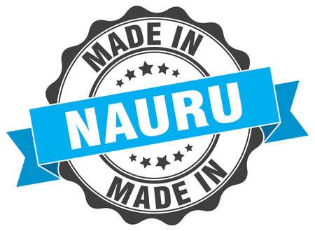 nauru: made in Nauru round seal