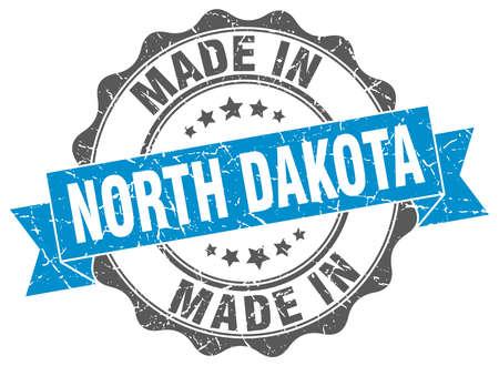 made in North Dakota round seal