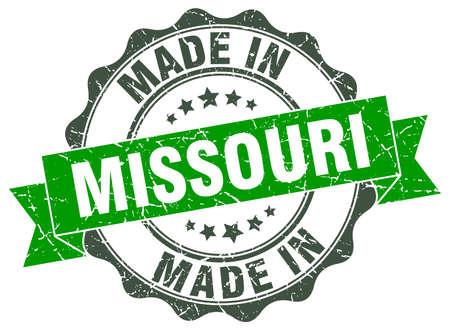 made in Missouri round seal