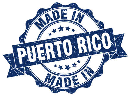 made in Puerto Rico round seal
