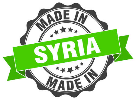 made in Syria round seal Illustration