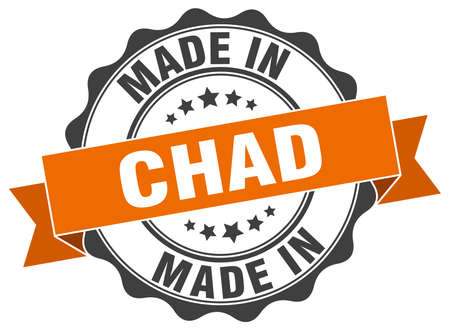 chad: made in Chad round seal