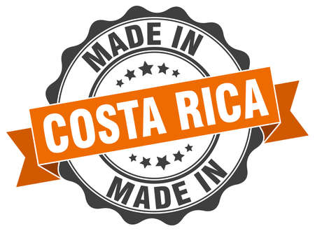 made in Costa Rica round seal Illustration
