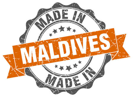 made in Maldives round seal