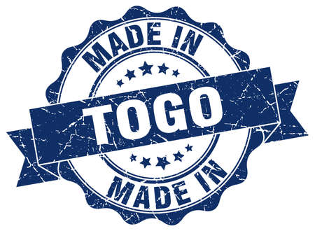 Made in Togo round seal. Illustration
