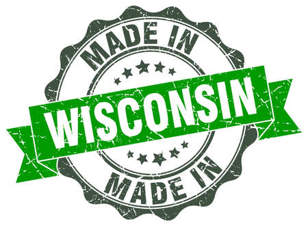 made in Wisconsin round seal 向量圖像