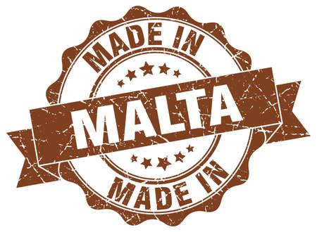 malta: made in Malta round seal