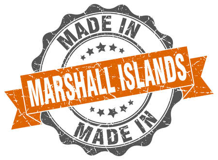 made in Marshall Islands round seal