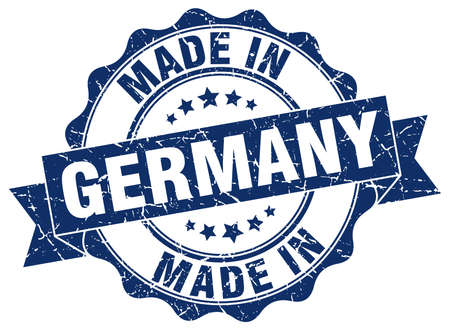 made in germany: made in Germany round seal Illustration