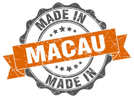 macau: made in Macau round seal
