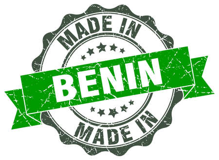 made in Benin round seal Illustration