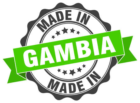 gambia: made in Gambia round seal Illustration