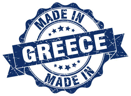 made in Greece round seal Illustration