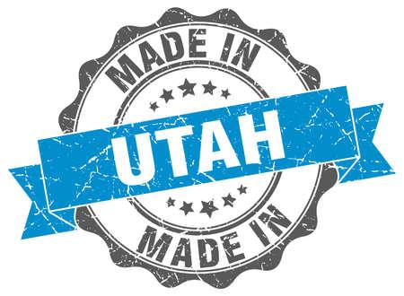 made in Utah round seal Illustration