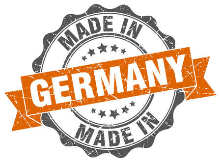 made in Germany round seal Stock Illustratie