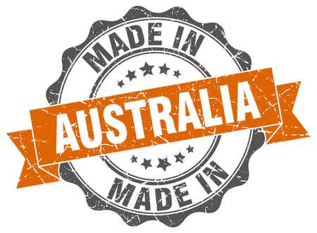 made in Australia round seal Illustration