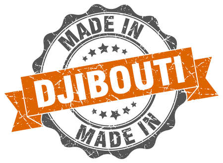 made in Djibouti round seal Illustration