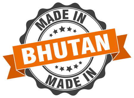 bhutan: made in Bhutan round seal