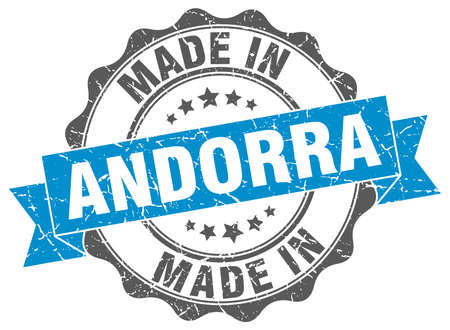 made in Andorra round seal