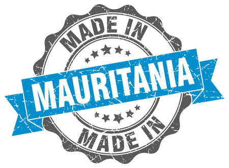 made in Mauritania round seal Illustration