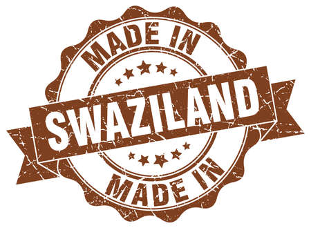 made in Swaziland round seal Illustration