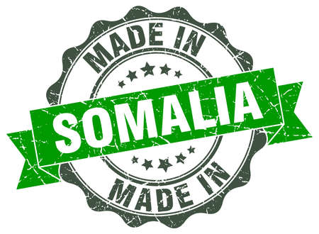 made in Somalia round seal