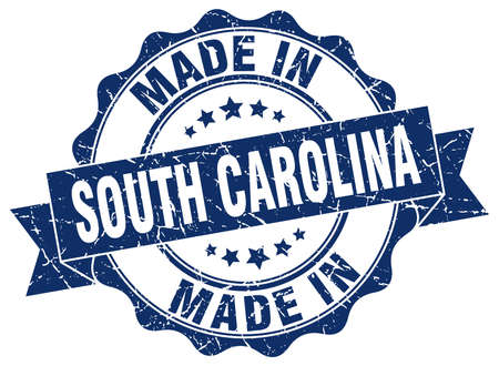 made in South Carolina round seal Illustration